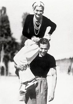 Coco Chanel and Serge Lifar,  at the Lido Venise, 1937
