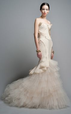 Ruffle Evening Gown by Zac Posen for Preorder on Moda Operandi