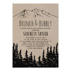 Rustic Woodsy Mountain Wedding Website RSVP Card Custom invitations - Make your special day with these personalized change the colors font and images and make them your own. Mountain Wedding Invitations, Formal Wedding Invitations, Reception Invitations, Destination Wedding Invitations, Rehearsal Dinner Invitations, Engagement Party Invitations, Rustic Invitations, Wedding Invitation Wording, Wedding Stationery