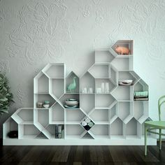 Citybook modular bookcase - Antonella Di Luca & Ubaldo Righi for Mr.Less & Mrs.More