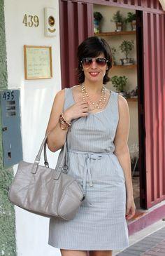 Divina Ejecutiva: Mis Looks - Combinado Gris  Blanco