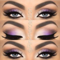 purple and grey eyeshadow
