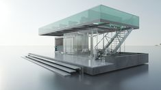 Concept design for a container restaurant in qatar Container Restaurant, Behance, Gallery, Design, Blue Prints, Roof Rack