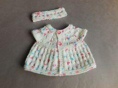 marianna's lazy daisy days - Carla Baby Top & Headband. Free pattern