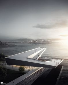 Obama's Presidential Library, Chicago Lakeside by WAX Architectural Visualizations