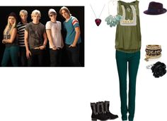 """""""if i was in the R5"""" by raura920 ❤ liked on Polyvore"""