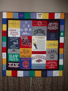 Small Throw size patchwork quilt made from your shirts – CUSTOM ORDERS – Qquilting 2020 Longarm Quilting, Quilting Tips, Quilting Projects, Sewing Projects, Quilting Board, Quilting Tutorials, Sewing Tips, Sewing Crafts, Jellyroll Quilts