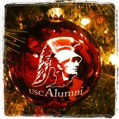 NCAA USC Trojans Snowman Christmas Ornament | USC Christmas ...