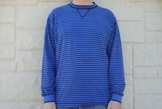 Vintage 80s 90s Men's Gap Striped Long Sleeve by SycamoreVintage