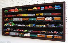 HO scale Model Train Display Case Cabinet