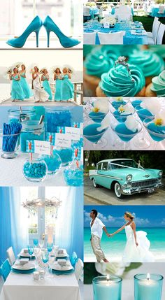 """Turquiose weddings are a no-no but that is my favorite car and would loveeeeeeee to get dropped off at the church in it.. Pretty big """"something blue"""""""