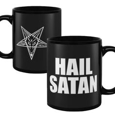Hail Satan Baphomet Pentagram Satanic 11 oz Coffee Mug Coffee Drinks, Coffee Mugs, Baphomet, Satan, My Etsy Shop, Unique Jewelry, Handmade Gifts, Kitchen Accessories, Products