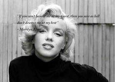 Avec Marilyn Monroe Quotes et Marilyn Monroe.