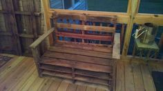 2 seater bench with armrests