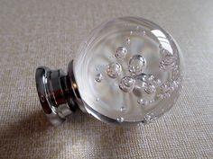 Bulle en verre boutons cristal bouton tiroir par ARoseRambling