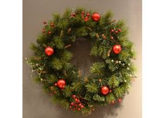 """Quickly transform your front entry with a simple but festive Wreath - 22"""" Glitter Wreath only $26.00 - Amazing!"""