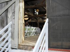 A peek inside the barn...#BarnWedding
