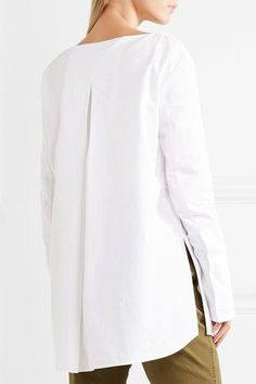 Protagonist - Cotton-poplin Tunic - White - US0