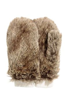 Ръкавици от еко кожа с косъм | H&M