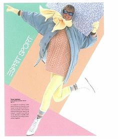 Esprit catalog page, mid 80s. Had the coat and the leggings, but no more :(