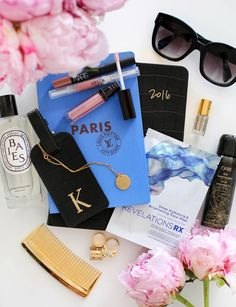 2016 hand lettering for With Love From Kat Paris Collection / Travel Beauty Must Haves