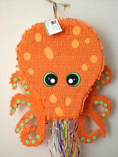 Octopus Pinata. Large Orange Octopus Pinata by AbitaAchie on Etsy