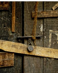 old door and padlock