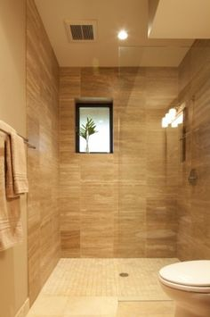 This would be better with frosted glass as a screen for the shower.