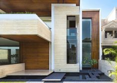 A Sleek, Modern Home with Indian Sensibilities and an Interior Courtyard