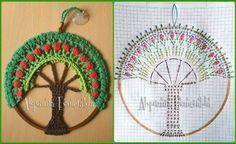 Mandala Árbol de la Vida  Árbol de la vida crochet patrón Árbol de la vida crochet mandala #arboldelavida #crochet #patronarboldelavida #alquimiaesmeralda