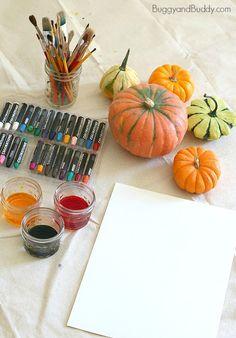 Pumpkin Still Life Art Project for Kids