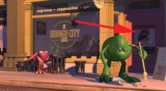 Monsters, Inc. | 22 Pixar Movie Easter Eggs You May Have Seriously Never Noticed