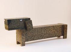 Deko-Objekte - Figur aus Holz, Dackel - ein Designerstück von Katrin-Dagefoer bei DaWanda