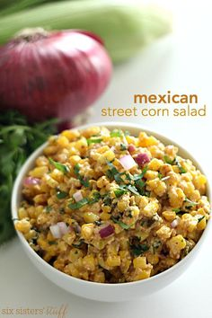 Mexican Street Corn Salad on SixSistersStuff