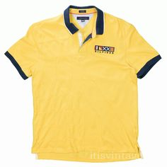 dbc30acf8 Tommy Hilfiger Shirt Matching Yellow Patchwork Polo XXL Embroidered Flag  Crest
