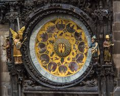 The Orloj or Astronomical Clock on the Old Town City Hall in Old Town Square in Prague, Czech Republic - Stock Image Prague Clock, Prague Astronomical Clock, Pont Charles, Prague Old Town, Santa Sede, Cool Clocks, Medieval World, Old Town Square, 15th Century