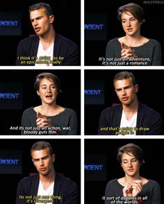 Divergent - Shailene Woodley and Theo James (Tris and Four) on what Divergent is.