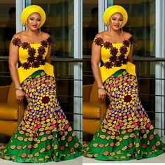 We have definitely revived bringing you the best ankara mix-match styles, ladies. It is certified, the love Nigerian women have for Ankara will never die! Latest Aso Ebi Styles, Kente Styles, Ankara Gown Styles, Ankara Gowns, Beautiful African Women, African Beauty, African Fashion, African Attire, African Dress