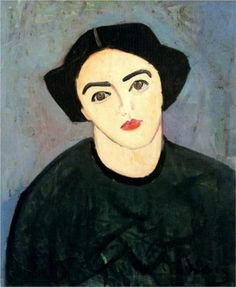 A woman with green dress - Andre Derain