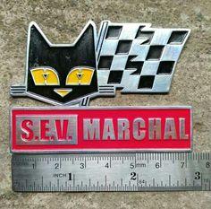 VINTAGE S.E.V. MARCHAL FOG LIGHTS bulbs HISTORY FOR SALE CAT LOGO CAR BADGE ACMA Car Badges, Cat Logo, 7 And 7, Cars And Motorcycles, Bulbs, Light Bulb, Lights, History, Ebay