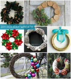 DIY Holiday Wreath Ideas (PHOTOS) #diy #holiday #wreath #christmas #decorating