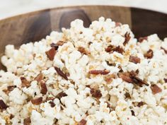 Maple-Bacon Popcorn recipe from Ayesha Curry via Food Network