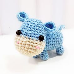 Download this free pattern at Amigurumipatterns.net ella the hippo