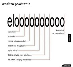 "Memy po Polsku Analiza powitania - "" elo "" #mem#śmieszne#funny#polskie_memy#elo#analiza_powitania Wtf Funny, Funny Jokes, Fnaf, Polish Memes, Funny Mems, Thing 1, Man Humor, Best Memes, Funny Photos"