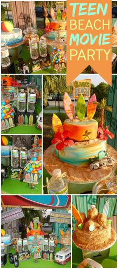 Here's a very cool Teen Beach Movie party! See more party ideas at CatchMyParty.com!