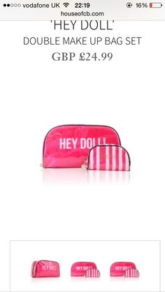 Need new make up bags x Make Up, Dolls, Bags, Baby Dolls, Handbags, Puppet, Taschen, Makeup, Make Up Dupes