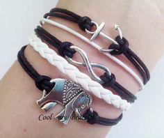 Infinite big ships anchor bracelet elephant by Coolmybracelet, $4.99