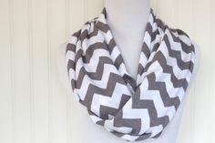 Grey chevron scarf