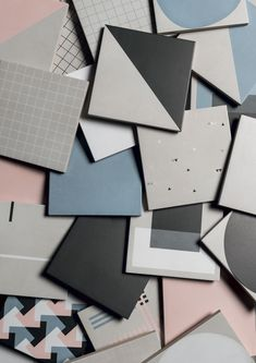 Geometric tiles are a bold and fun way to add pattern in the bathroom, opt for light grey for a more subtle look, or a pastel blue to make a scene Ceramic Tile Floor Bathroom, Bathroom Tile Designs, Porcelain Tile, White Porcelain, Tiles Texture, Texture Design, Triangles, Geometric Tiles, Victorian Decor