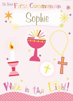 Walk In The Light, Personalized Greeting Cards, First Holy Communion, Holi, Girls, Toddler Girls, Daughters, Maids, Holi Celebration